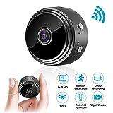 Mini cámara, cámara de vigilancia euskDE Wifi Batería Full HD 1080P WLAN Pequeña cámara de niñera con detector de...