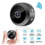 Mini Kamera, euskDE WiFi Überwachungskamera Full HD 1080P WLAN Tragbare Kleine Nanny Cam mit...