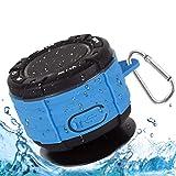 Altavoz Bluetooth, IPX7 Impermeable Altavoz de Ducha Bluetooth Inalámbrico Portátil con FM Radio HD Deep Bass Speaker para Baño Piscina Playa Outdoor