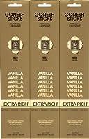 GONESH  VANILLA バニラ  20本入り X 3パック (60本)