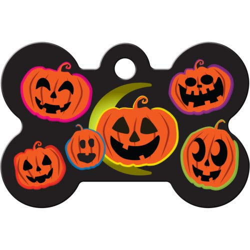 Halloween Pumpkins Personalized Custom Engraved Pet ID Tags!