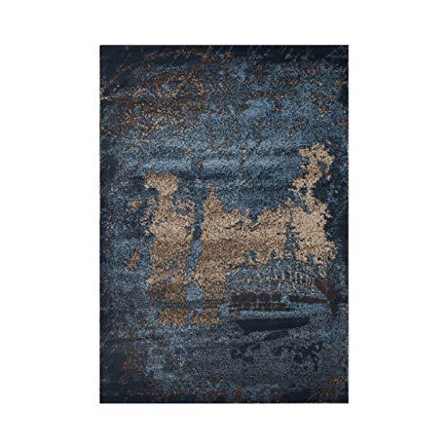 Brilliant firm Teppiche Retro minimalistischer europäischer Nachttischdecke des Wohnzimmerteppichs des Teppichs Bett-Bettdecke (Color : Blue, Size : 160 * 230cm)