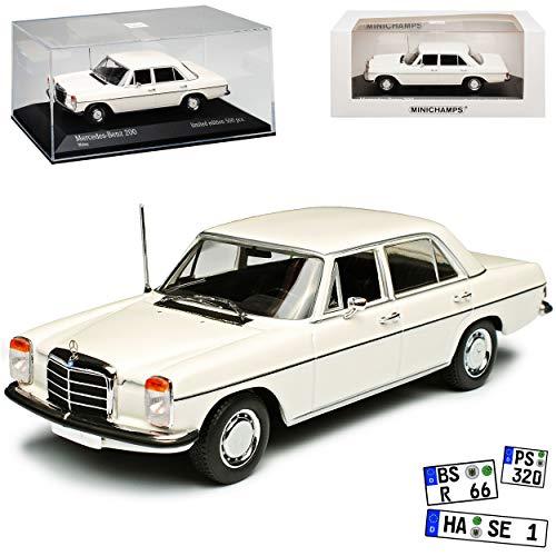 Minichamps Mercedes-Benz 200 /8 Strich Acht Limousine Weiss W114 W115 1967-1976 1/43 Modell Auto