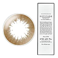 【2箱】サステイナブルワンデー 101-BR(ライトブラウン) -2.25 1箱10枚入 1day light brown 14.1mm ナチュラルカラコン