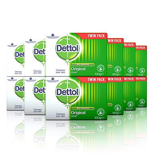 Dettol Sapone Anti-Originale, Senza profumo, 1200 grammi, Confezione da 6