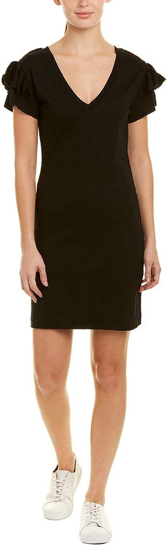 Pam & Gela Womens Ruffle Sleeves Mini TShirt Dress