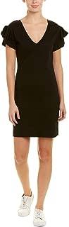Pam & Gela Womens Ruffle Sleeve Dress Black Small, Medium, Large