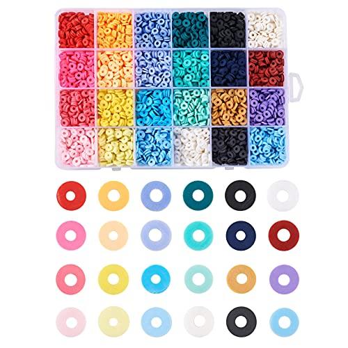 Cheriswelry Cuentas heishi de arcilla polimérica de 6mm, forma de disco,...