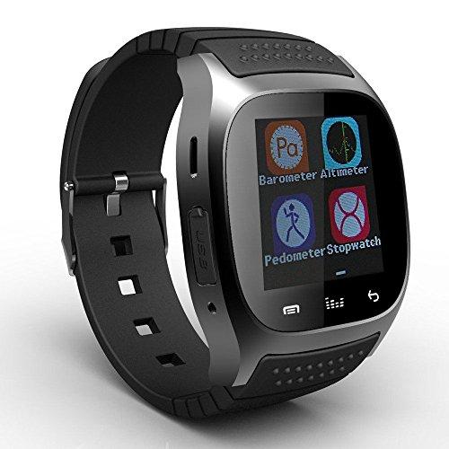 YinoSino M26 Smart watch (Supporto Italiano) / orologio Bluetooth / orologio Android / orologio della salute con Touch Screen e fotocamera, standby a lunga durata, per smartphone Android e iPhone iOS (Nero)