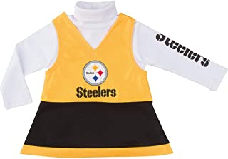 NFL Pittsburgh Steelers Girls Jumper Set, Black, 3T