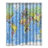 Dalliy Brauch Weltkarte Wasserdicht Polyester Shower Curtain Duschvorhang 152cm x 183cm