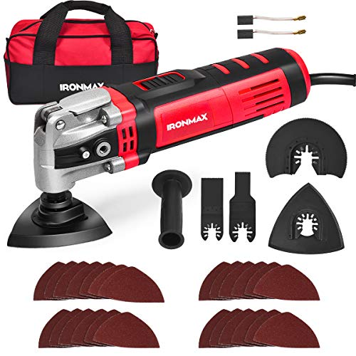 Save %12 Now! Goplus Oscillating Tool Kit, 3.5-Amp 6 Variable Speed Oscillating Multi-Tool Kit with ...