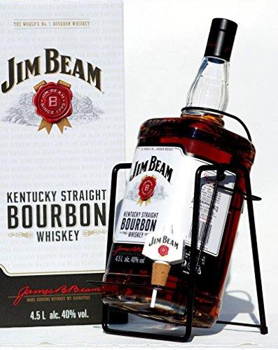 Jim Beam mit Wippe Kentucky Straight Bourbon Whiskey 40% 4,5l Großflasche