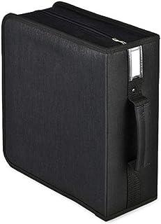 Lwieui Caja de Almacenamiento de CD CD Mano Lleva la Caja de DVD Caja de Almacenamiento portátil de CD 320 Capacidad Estan...