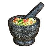 Nostalgia 5-Inch Granite Mortar & Pestle, Perfect For Salsa, Guacamole, Hummus, Pesto, Nuts, Herbs,...