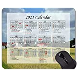 Yanteng Gaming Mouse Pad 2021 Year Calendar With Holiday、Village Church Small Village Mouse Pad With Stitched Edge