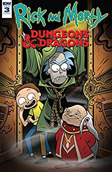 Rick and Morty vs. Dungeons & Dragons #3 (of 4) by [Patrick Rothfuss, Jim Zub, Troy Little]