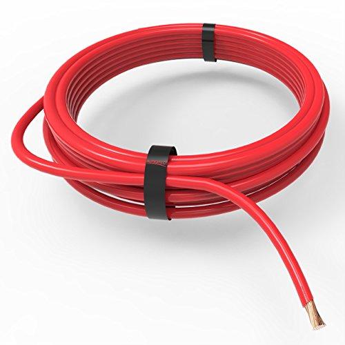 AUPROTEC Fahrzeugleitung 0,75 mm² FLRY-B als Ring 5m oder 10m Auswahl: 10m, rot