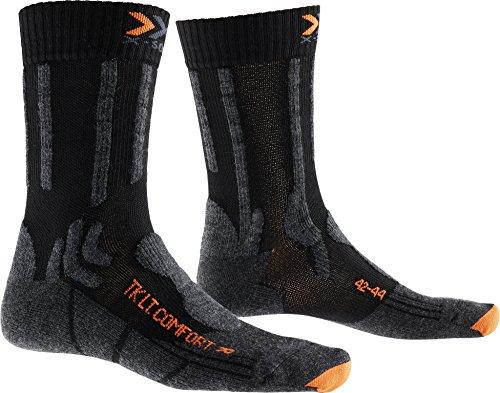 X-Socks - Calze da trekking da uomo, Uomo, Calzini, X020278, nero/arancione, 35-38
