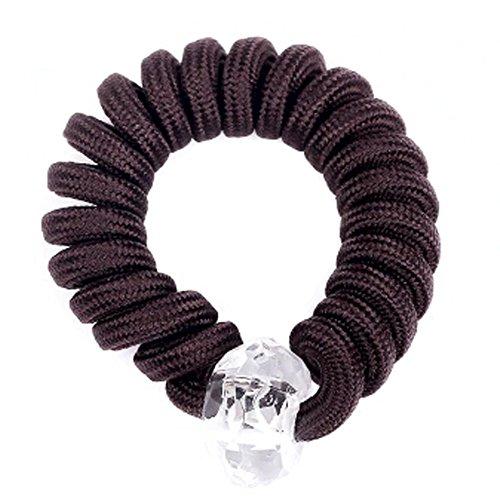 Bande 8PCS Lady Hair Elastic Ponytail Cravates cheveux bande élastique, Brown