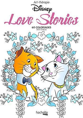 Love stories Disney : 60 coloriages anti-stress: Mini blocs coloriages