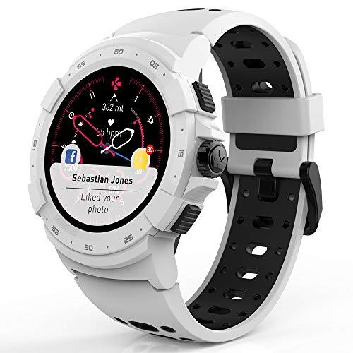 MyKronoz ZeSport2, Multisport GPS Smartwatch, 6 Axis Accelerometer, Swiss Design (White/Black)
