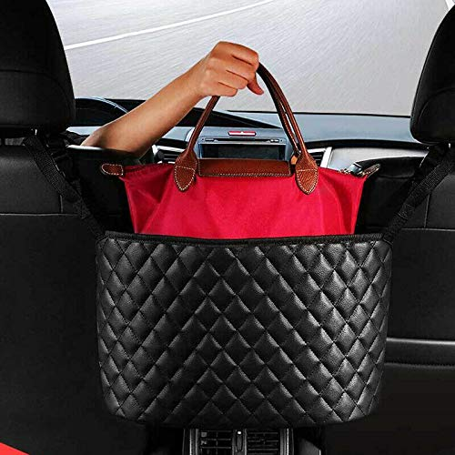 eveco Purse Holder for Cars - Car Purse Handbag Holder Between Seats - Auto Storage Accessories for Women Interior - Automotive Consoles & Organizers Net Pocket for Front Seat