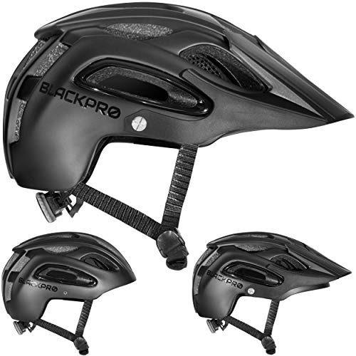 Mountain Bike Helmet | Bicycle Helmet with Detachable Visor, Padded & Adjustable | Protection Comfortable Lightweight Cycling Mountain & Road Bicycle Helmets for Adult Men Women