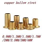 Ochoos 1000pcs 500PCS 0.9mm 1.3mm 1.5mm 1.7mm 2mm Tubular Rivets Circuit Board PCB Nails Copper Hollow Rivet - (Stem Length: 2x2.5mm 500pcs)