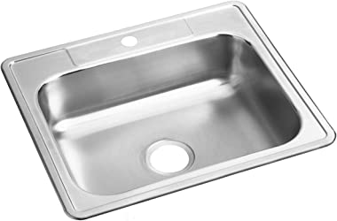 Dayton D125221 Single Bowl Drop-in Stainless Steel Sink