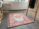 Rozenkelim Badmatte | Badvorleger für Ihrer Dusche oder Badewanne | Machinewaschbar 70% Polypropylen, 30% Baumwolle (Pastell, 90cm x 70cm, 5 mm hoch)