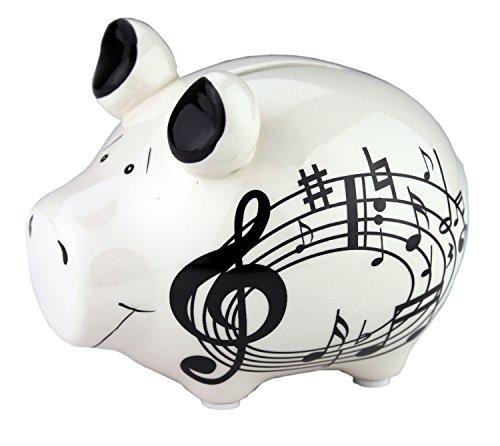Sparschwein mit Notenlinien - Schönes Geschenk für Musiker