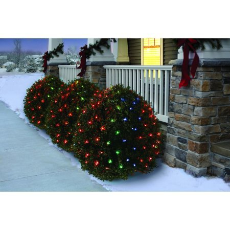 Holiday Time Net Light Set Green Wire Multi Bulbs, 150 Count (Set of 5)