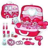 JEJA Gioco di ruolo Kit di gioielli Toy Set 19PCS Princess Suitcase Gift for Girls Bambini kids