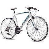 CHRISSON 28 Zoll Rennrad Fitnessrad AIRWICK Weiss blau 56 cm
