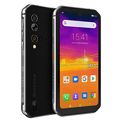 Rugged Smartphone,Blackview BV9900 Pro Helio P90 8GB+128GB Rugged Unlocked Phones with Thermal Imaging 48MP+16MP,5.84' FHD+ Display 4G Global LTE GSM AT&T IP68 - Silver