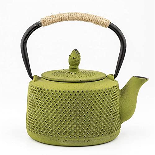 Tetera Tetera del hierro fundido de la olla con el filtro del infusor Estufa de gas Hervidor de té Metal Tetera roja Levantamiento Hervidor de hierro Kung Fu Juego de té 850m Teteras Para te