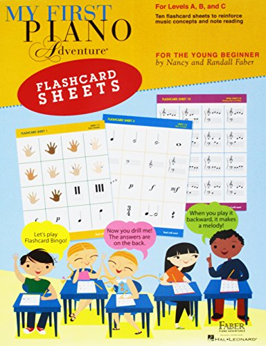 My First Piano Adventure Flashcard Sheets: For Levels A, B and C; for the Young Beginner