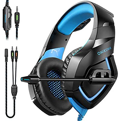ONIKUMA Gaming Headphones PS4 Headset Gaming Headset Xbox one Headset Gaming Headphone with mic for PS4,PS2,Mac,Xbox One(Adapter Not Included)