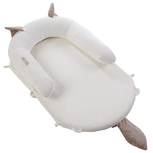 Fantastic Deal! MOOB Baby Breathable Lounger, Protect Baby's Spine Portable Crib Uterine Bionic Bed ...