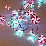 Lauva Dekorative Lichterkette, batteriebetrieben, 3m, 40LEDs, mit Fernbedienung, für Innen und Außen, Weihnachten, DIY, Deko für Zuhause, Neujahr, Party, Urlaub, Hochzeit, Dekoration candy