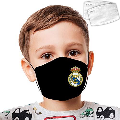 NNGQ R-eal M-adrid Kid - Decoración facial con impresión digital 3D, ajustable, a prueba de polvo, unisex