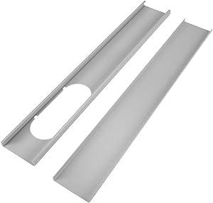 QUAKOI 2pcs Adjustable Window Slide Kit Plate Air Conditioner Wind Shield for Portable
