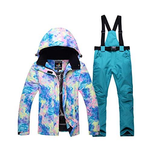 Queenhairs Conjunto de Traje de esquí para Mujer Chapa de Invierno al Aire Libre Tablero...