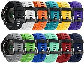 QGHXO Band for Garmin Fenix 3, Soft Silicone Replacement Watch Band Strap for Garmin Fenix 3 / Fenix 3 HR/Fenix 5X Smart Watch, Fit 5.7 inches-8.26 inches, (Not Fit Fenix 5 / 5S)