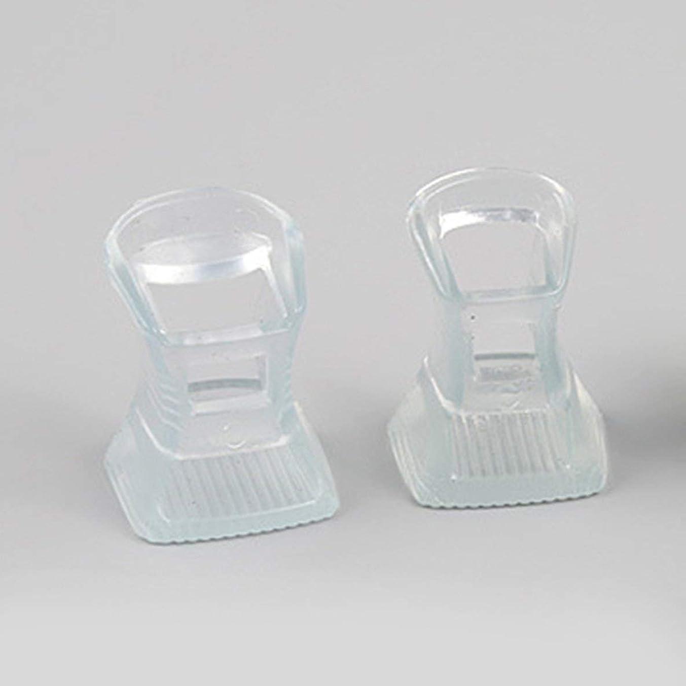 曲線収益歯痛1ペアハイヒール保護カバーヒールストッパー滑り止めの耐摩耗性 - 透明L