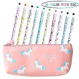 Bolígrafos de unicornio para niñas, regalo de cumpleaños escolar,...