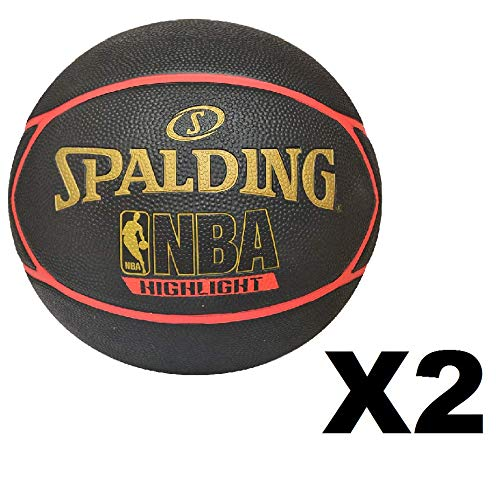 2 Pack Spalding Highlight Red Basketball Rubber Size 29.5