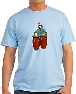 CafePress Sock Monkey Conga Drums Light Cotton T-Shirt