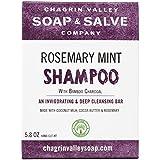 Organic Natural Shampoo Bar, Rosemary Mint Charcoal, Chagrin Valley Soap & Salve